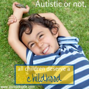 all children deserve a childhood