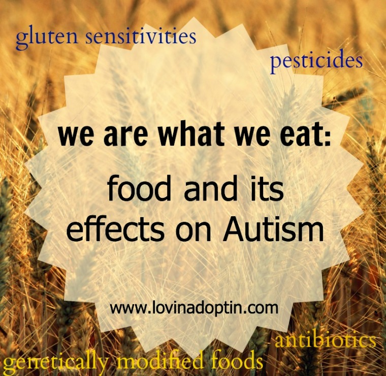 we are what we eat food and its effects on Autism