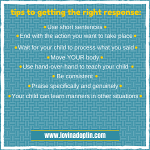 tips to getting the right response