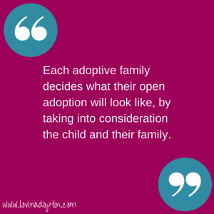 what open adoptions look like