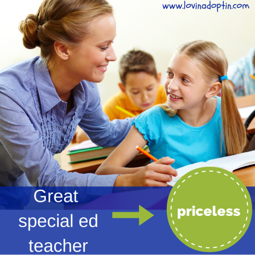 great special ed teachers = priceless