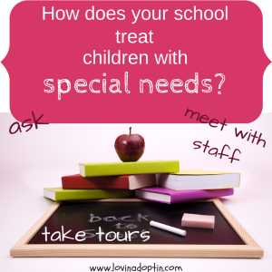 how does your school treat children w special needs