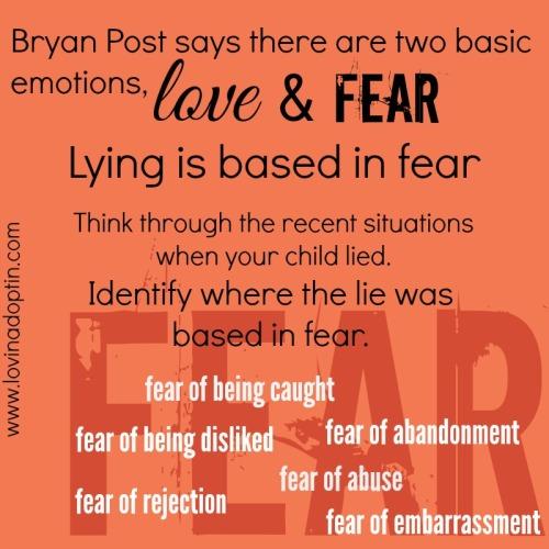 lying based in fear
