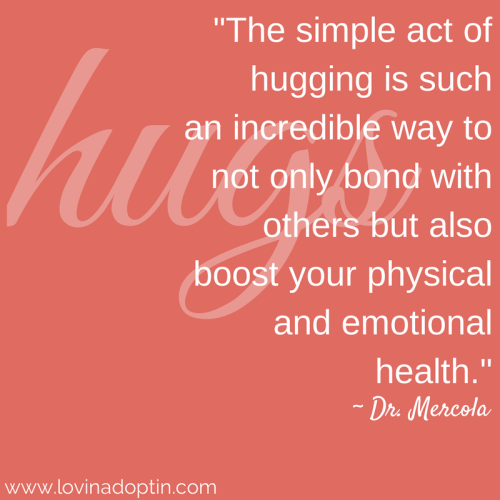 the simple act of hugging