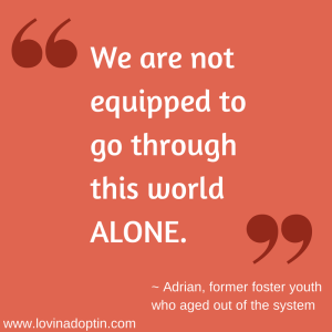 We are not equipped to go through this world alone