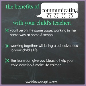 benefits of communicating with teachers