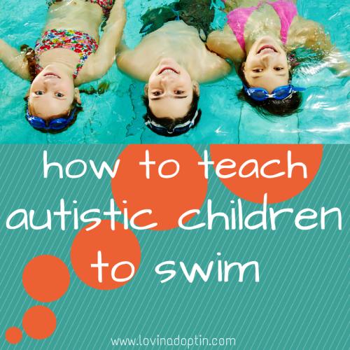how to teach autistic children to swim