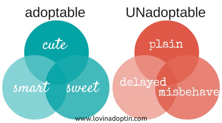 adoptable vs unadoptable
