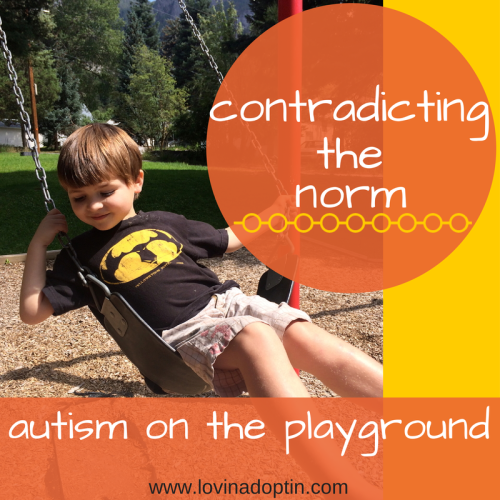 contradicting the norm - autism on the playground