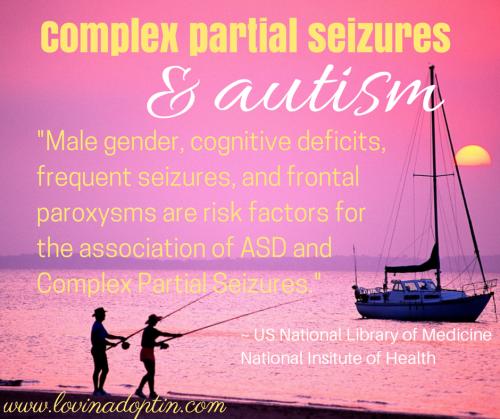 complex partial seizures & autism