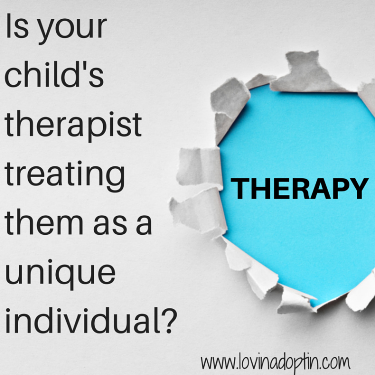 Is your child's therapist treating them as a unique individual