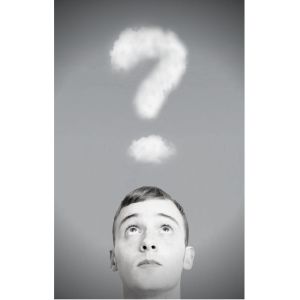 question in clouds