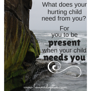 your child needs you to be present