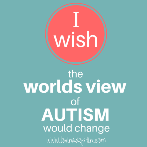 I wish the worlds view of Autism would change
