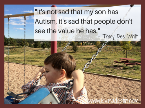 It's not sad that my son has Autism