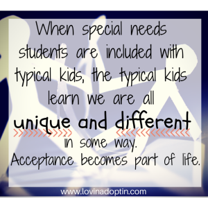 When special needs students are included