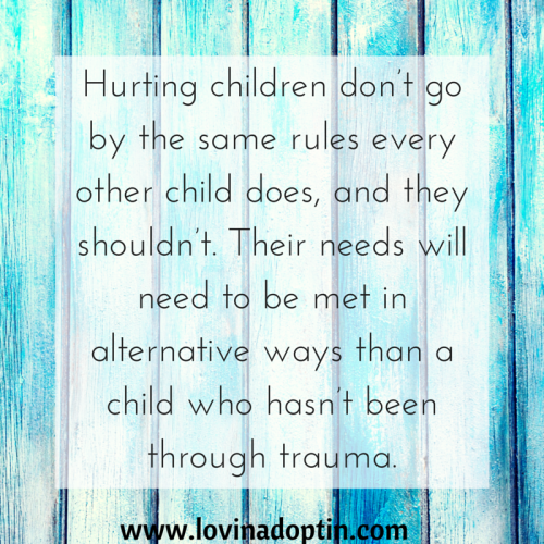 Hurting children go by different rules