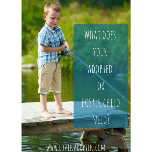 What does your adopted or foster child need