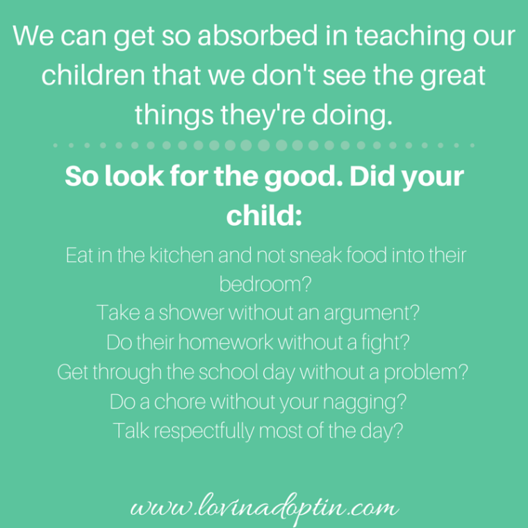 Find the good your child does
