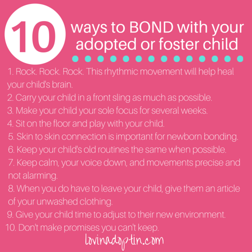10 ways to bond with your adopted or foster child