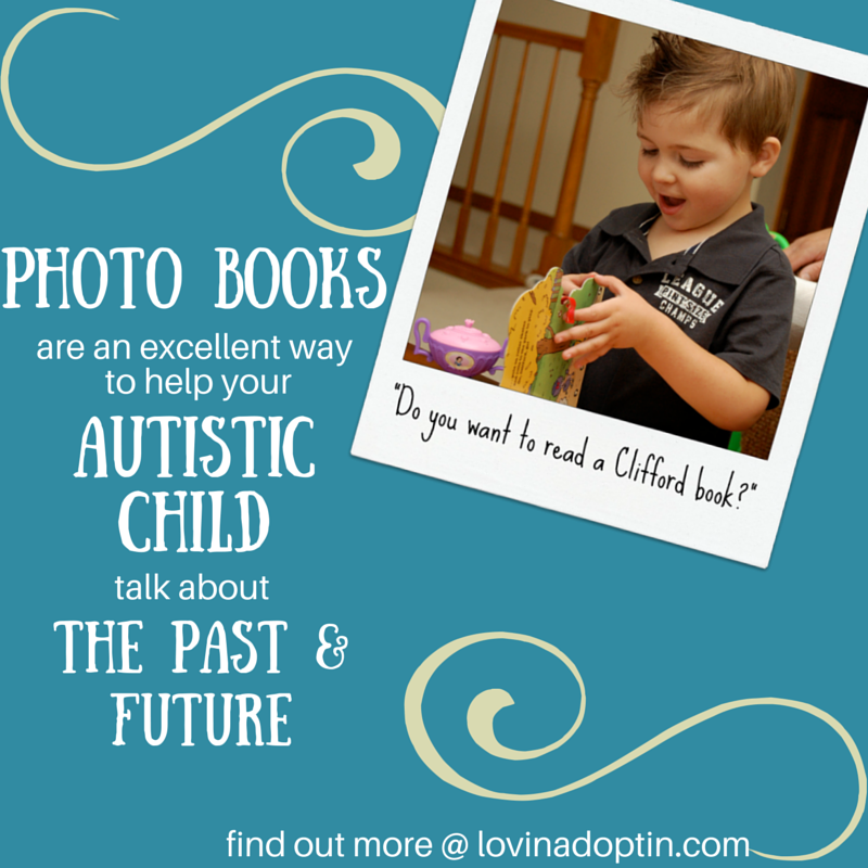 photo books help the autistic child talk about past and future