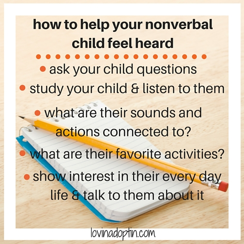 how to help your nonverbal child feel heard
