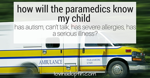 how will the paramedics know